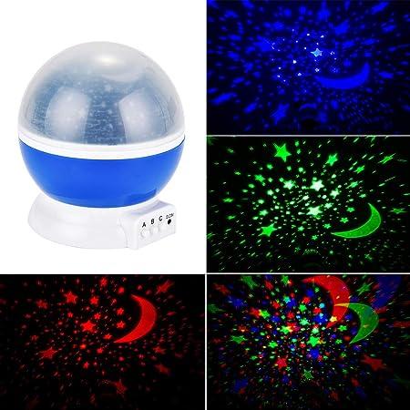 Galapara Lámpara Proyector De Estrellas, Giratorio Led Luz ...
