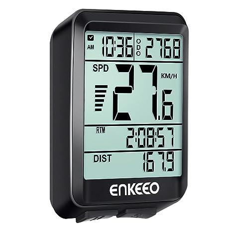 ENKEEO Ciclocomputador Cableado de Bicicleta, Cuentakilómetros ...