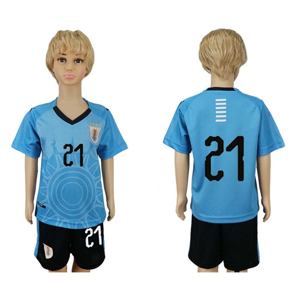 JONGIGO Camiseta de fútbol para niños del equipo nacional de Uruguay 21 Home 2018, casual, XXXS (2-3 Years Old), Azul: Amazon.es: Deportes y aire libre