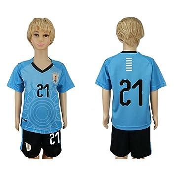 JONGIGO Camiseta de fútbol para niños del equipo nacional de Uruguay 21 Home 2018, casual