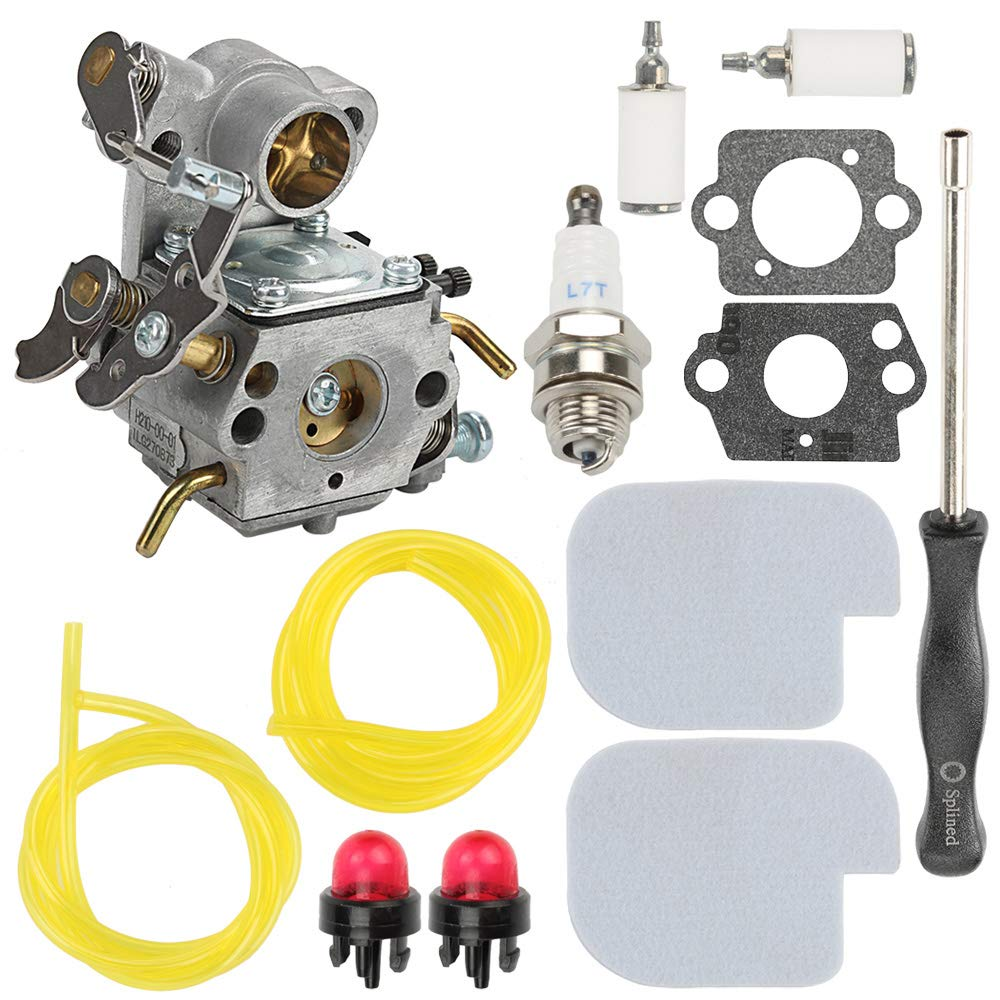 Carburetor for ZAMA C1M-W26 C1M-W26C Poulan P3314 P3416 P3816 P4018 PP3416 PP3516 PP3816 PP4018 PPB4218 S1970 Gas Chainsaw Weedeater Part# 545070601 545040701 with Air Filter Adjusting Tool by Hilom