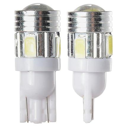 SODIAL(R) Bombilla LED T10 5W para Coche con 6 LED SMD 5730,