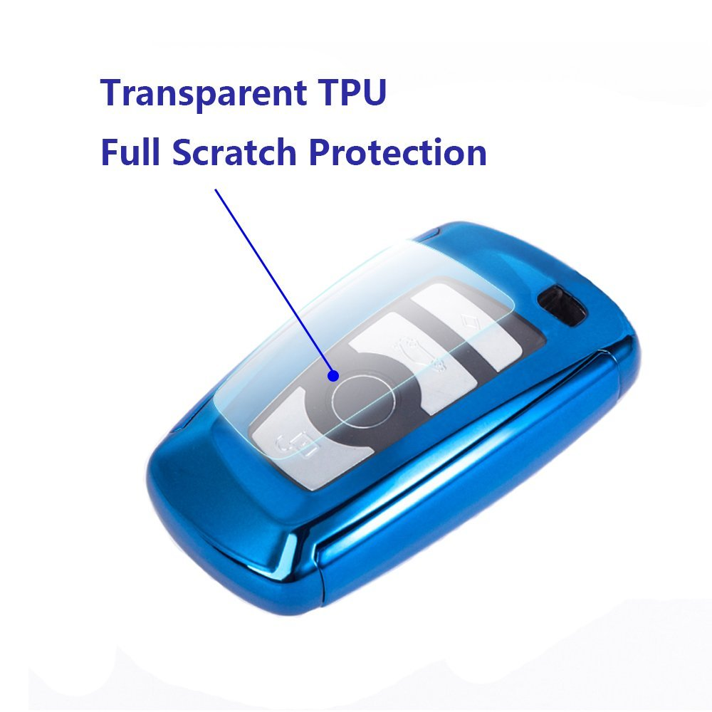 B Type-Blue Thor-Ind TPU Key Fob Case Cover for/ BMW New 2 5 7 Series X1 X5 X6 3//4 Buttons Keyless Entry Remote Control Smart Key Protective Shell Bag Holder