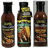 Walden Farms Original BBQ Sauce, Hickory Smoked BBQ Sauce and Honey BBQ Sauce Set (Pack of Three)