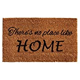 Home & More 121252436 No Place Like Home Doormat, 24'' x 36'' x 0.60'', Natural/Black