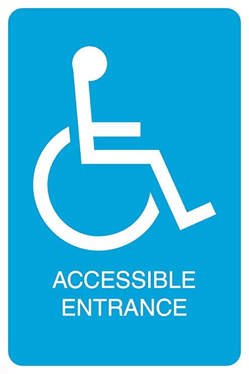 Amazon.com: Blue handicap símbolo accesible entrada ...