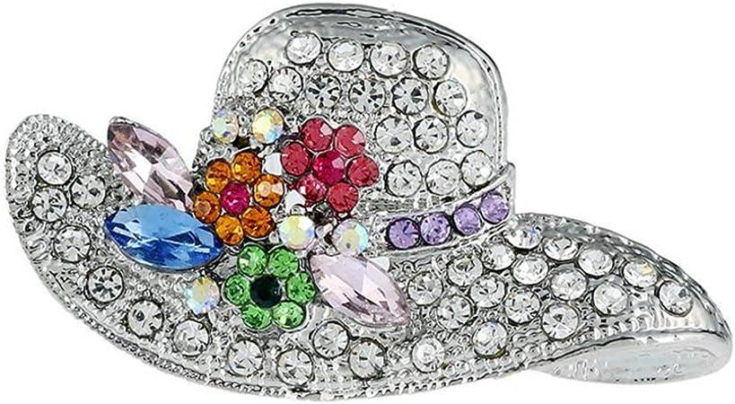 Cdet Femme Bijoux Broche Epingle en Alliage Forme de Chapeau Corsage Brooch de D/écoration Mode /él/égante Filles Style Nouveau 1PC 5,1x2,7cm