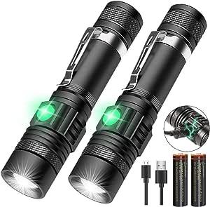 STRIR 410 Lumen Linterna de Trabajo LED Recargable 2 en 1 Luz de Trabajo Recargable COB Linterna Trabajo l/ámpara de inspecci/ón con Clip magn/ético,bater/ía 2200mAh Negro