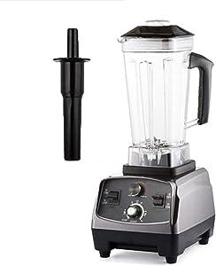 2L Jar Timer Super 2200W Heavy Duty Professional Smart Blender Mixer Juicer Fruit Food Processor Ice Smoothies Crusher,Titanium Grey,US Plug