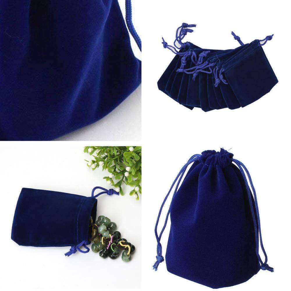 SUBZHAOYI Lot de 30 Pochettes en Velours Doux et Durable pour Emballage Cadeau de Bijoux