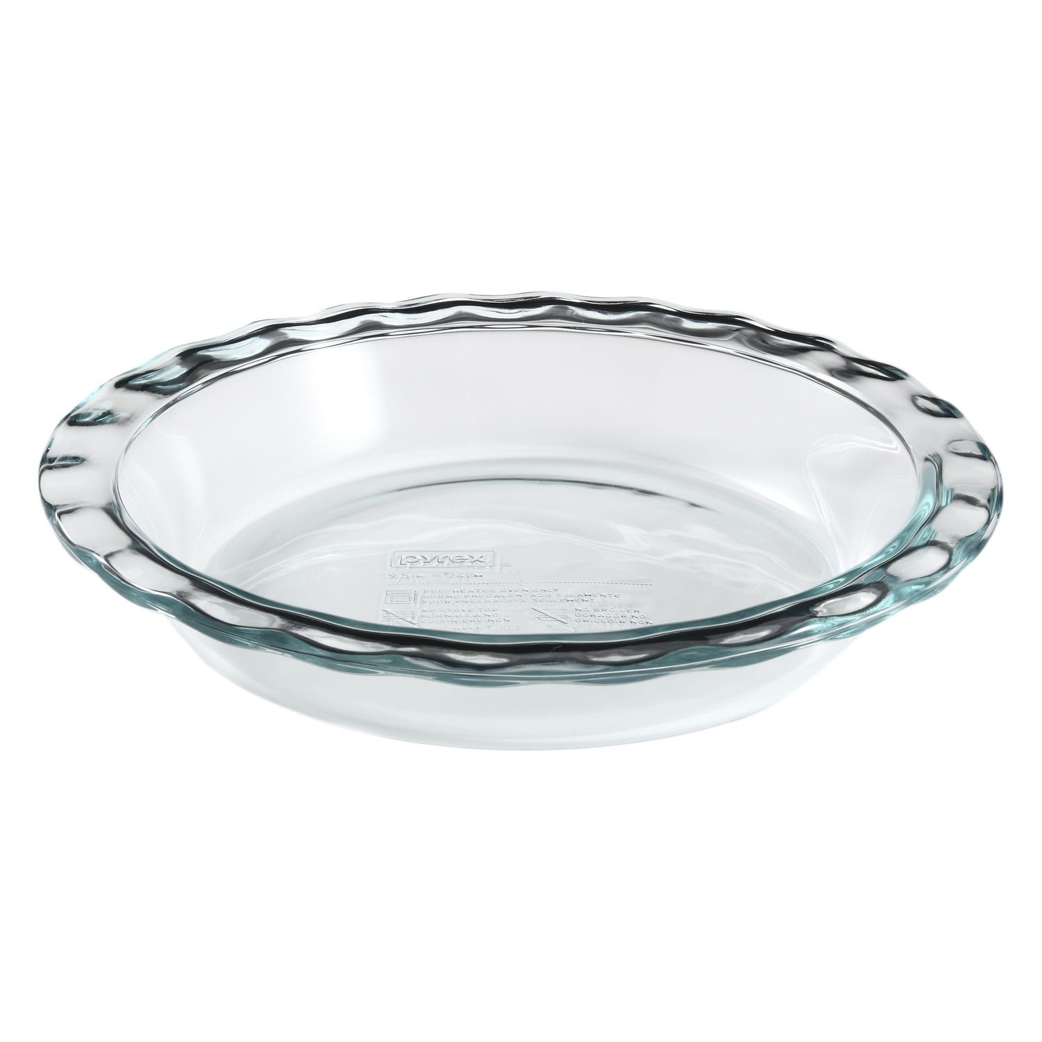 Pyrex Easy Grab 9.5'' Glass Pie Plate (Pack of 3) by Pyrex