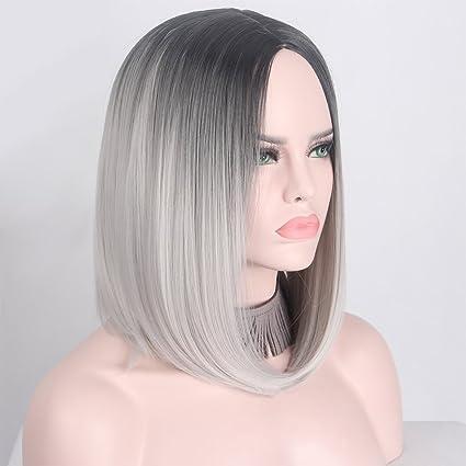 Pelucas de pelo, peluca de pelo corto para mujer, peluca de pelo recto,