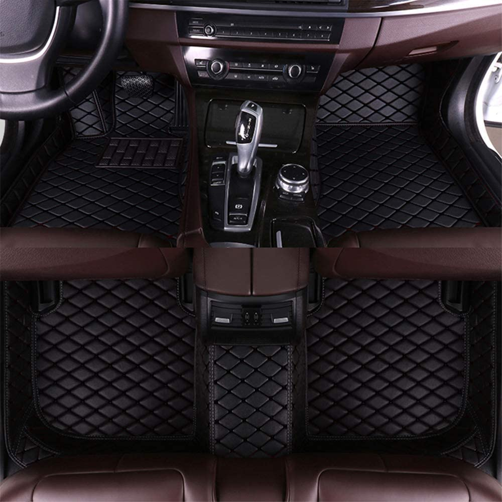 Maite Custom Car Floor Mat Fit for Alfa Romeo Giulietta 2014-2016 Full Surrouded Front Rear Row Car Floor Liners All Weather Black