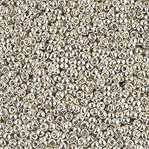 Miyuki Round Seed Bead Size 11/0 8.5g-tube Galvanized Silver
