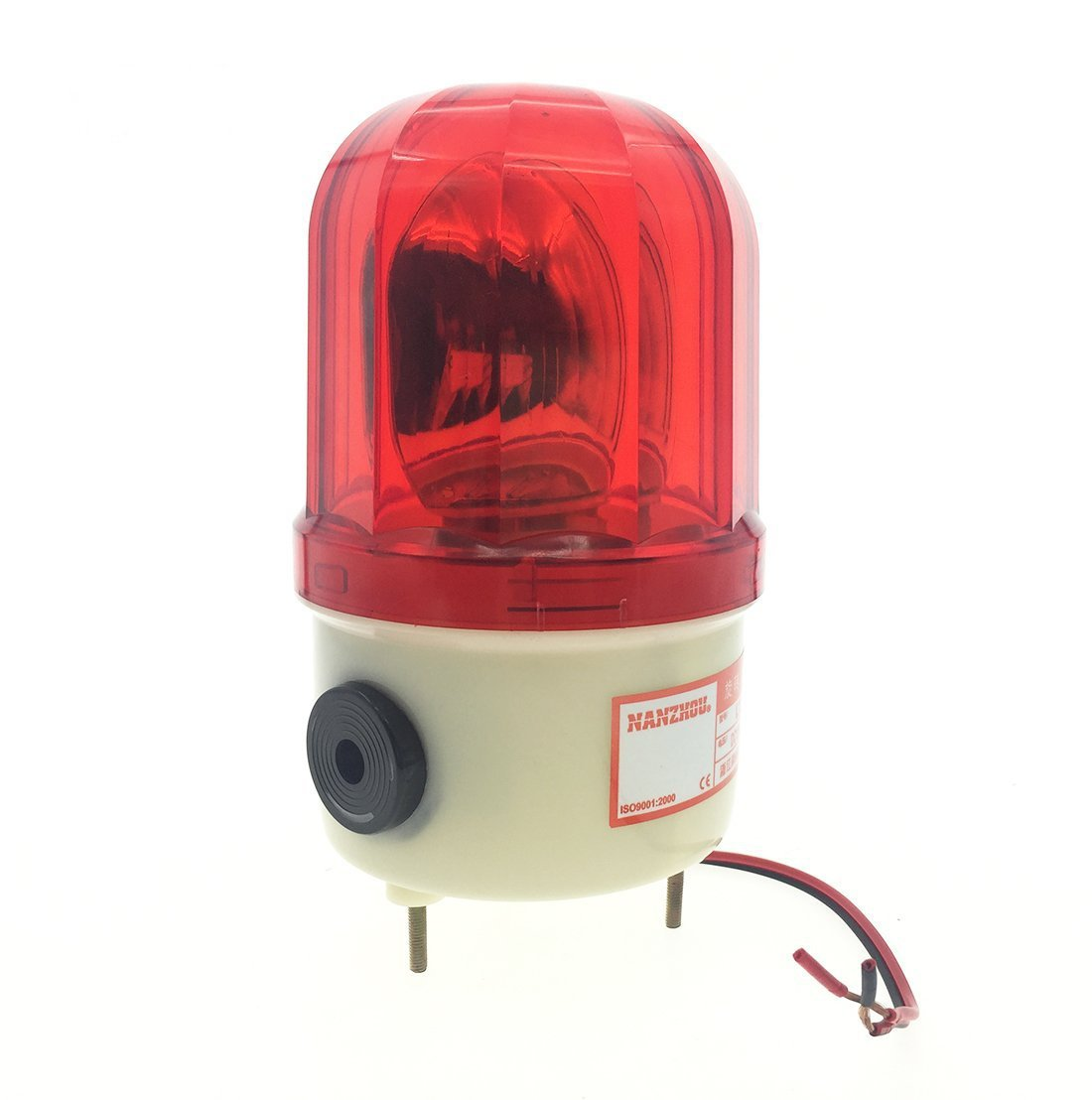 YXQ Red Warning Light DC12V 10W Halogen Bulb Industrial Rotary Signal Lamp LTE-1101J (Dome Case)