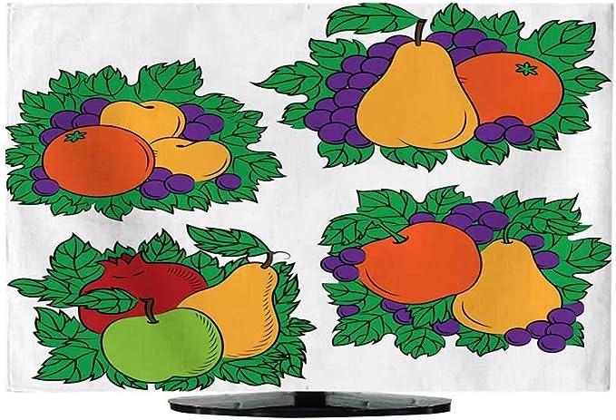 Cubre televisores de 30 a 32 Pulgadas con diseño de Frutas Coloridas: Amazon.es: Electrónica