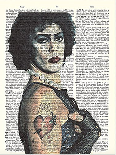 Art N Wordz Rocky Horror Frank N. Furter Original Dictionary Sheet Pop Art Wall or Desk Art Print Poster