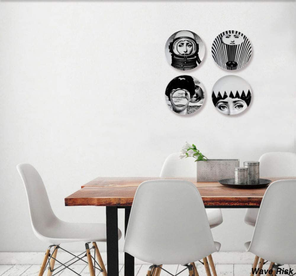 prbll Decorative/Plate/Wall/Hanging/Wobble/Platedecorative Plate Wall Decoration Desktop Decoration Home Wall Hanging Decoration Model Room Display 7 Inches