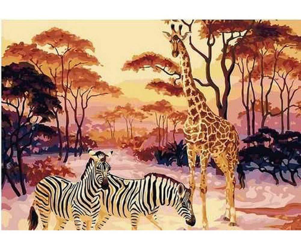 Skyty Giraffe Zebra Zebra Zebra Tiere Diy Malen Nach Zahlen Kits