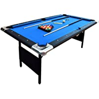 Hathaway Fairmont Portable 6-Ft Pool Table Families Easy Folding Storage, Includes Balls, Cues, Chalk