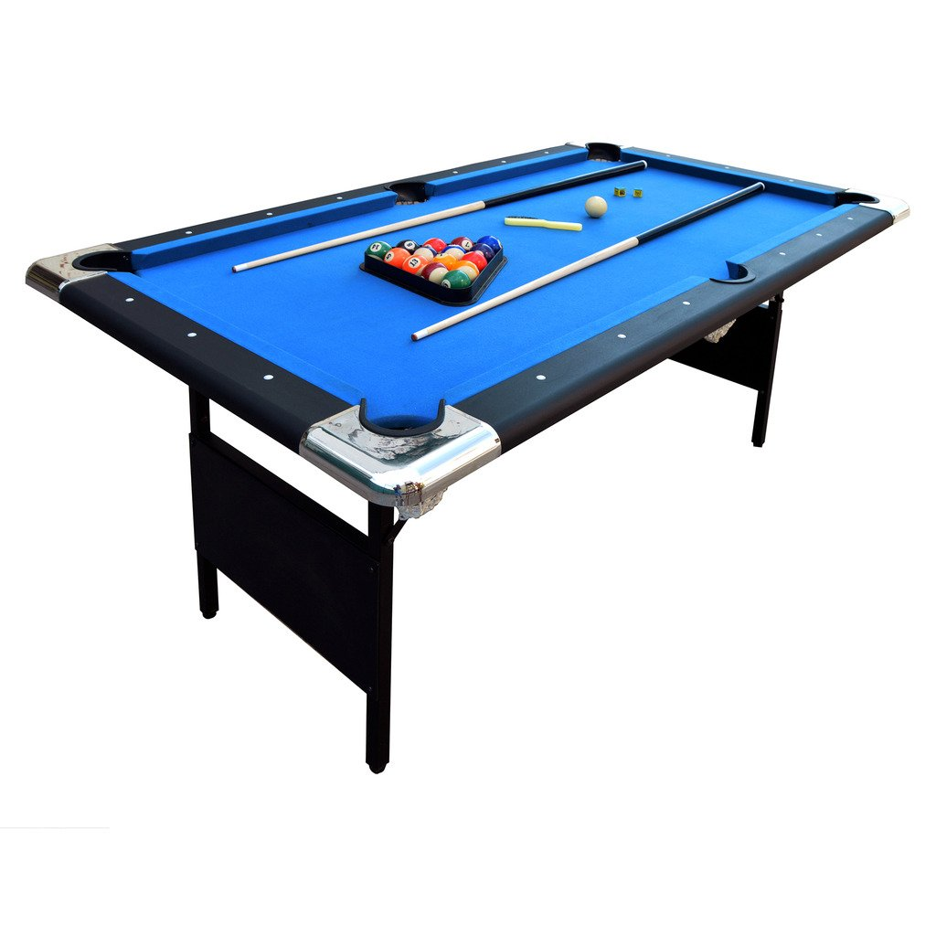 Amazon.com : Hathaway Fairmont Portable 6 Ft Pool Table Families Easy  Folding Storage, Includes Balls, Cues, Chalk : Sports U0026 Outdoors
