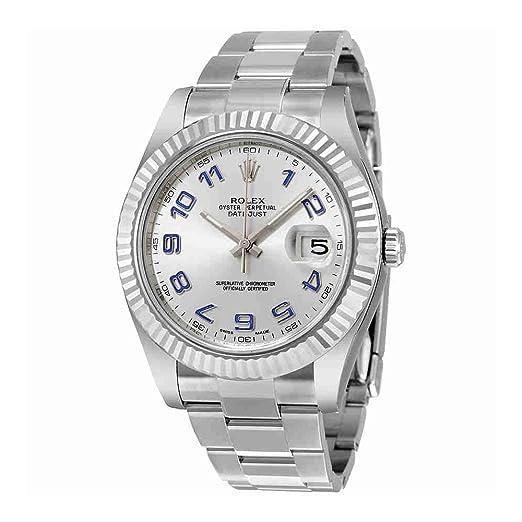 Rolex Datejust II Automático Rodio Dial Acero inoxidable reloj para hombre 116334rblao: Rolex: Amazon.es: Relojes