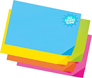 """PACON Super Bright Assorted Tagboard, 5 Super Bright Assorted Colors, 12"""" x 18"""", 100 Sheets"""