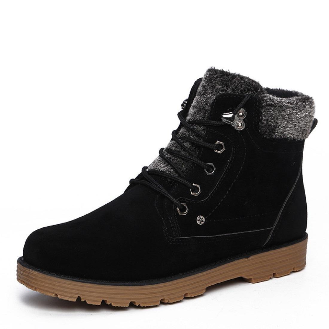 Herren Herbst Winter Plus Kaschmir Warm halten Flache Schuhe Lässige Schuhe Schutz Fuß Draussen Schneestiefel EUR GRÖSSE 39-44
