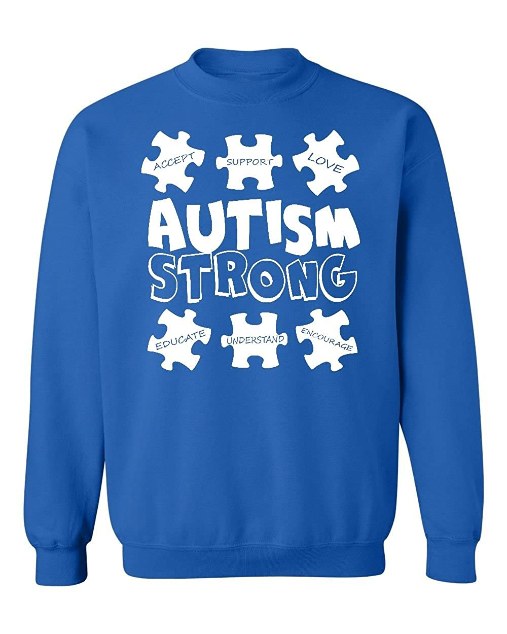 Promotion & Beyond Choose Your Autism Awareness Design Crewneck Sweatshirt