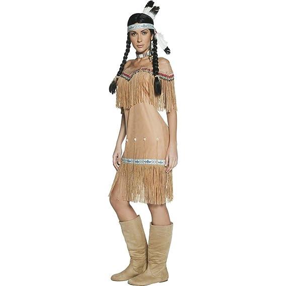 Indianerin Kostüm Pocahontas Damen Indianer Indianerinnenkostüm Beige M 40//42