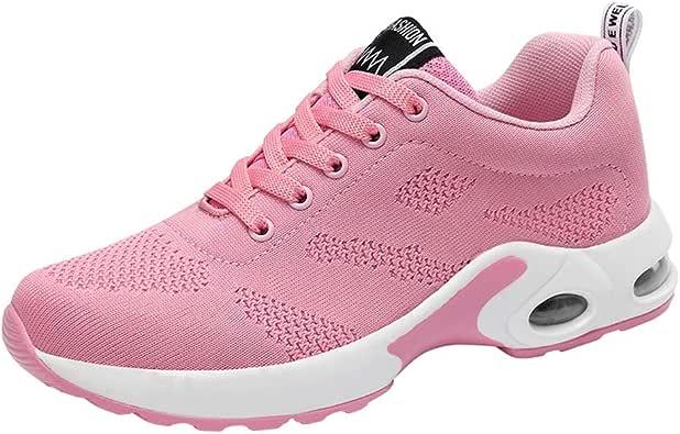 Logobeing Zapatillas de Deporte con Cojines de Aire Calzado de Running Net para Estudiante Volar Zapatos Tejidos Zapatillas Deportivas de Mujer Gimnasia Sneakers 35-41: Amazon.es: Zapatos y complementos