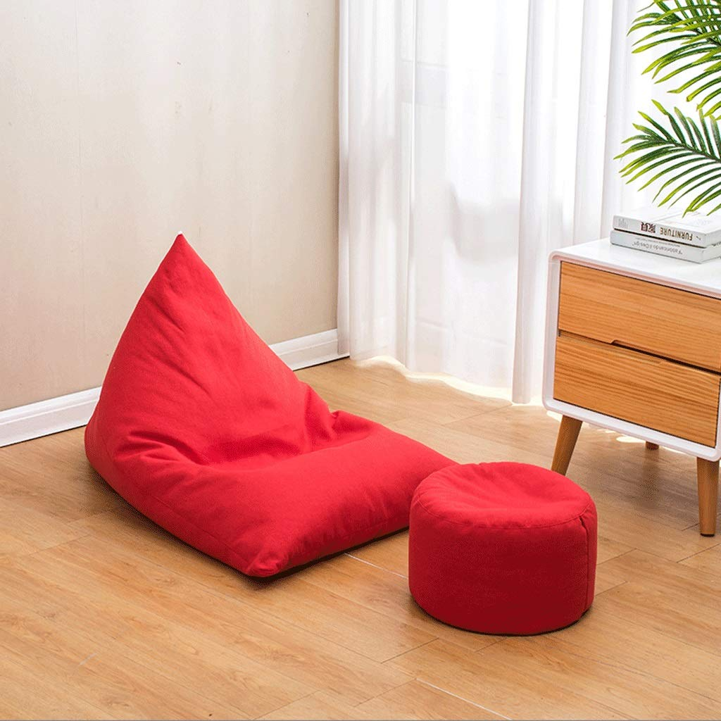 A4 Small Boat Type Bean Bag, Household Lazy Bean Bag Chair Combination, Removable Cotton and Linen EPS Granules, with Pedal (color   A1, Size   Small)