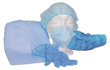 MRSA Visitantes Sets Azul unsteril – Protección – infecciones – Aislamiento Bata – Visitantes Manteles individuales