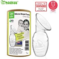 Haakaa Silicone Breast Pump 100% Food Grade Silicone BPA PVC and Phthalate Free