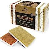 Eco sponges 2 Types Natural Plant Based Scrub Sponge 8 Pack Palm Fiber Scrubbing Sponge with Non Scratch Compostable…