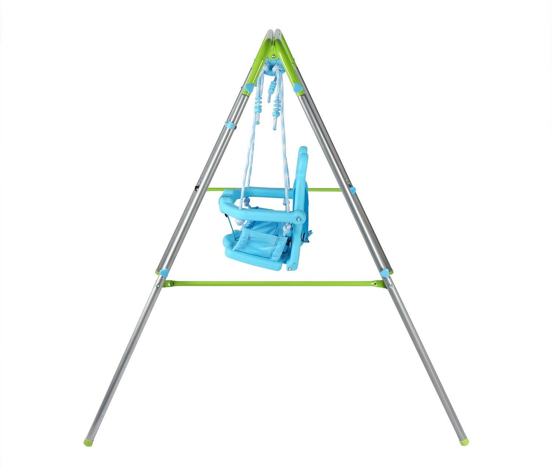 HLC Columpio Infantil Plegable / Diseño de Panda / Columpio para bebé de 9-36 meses / Azul-Verde: Amazon.es: Hogar