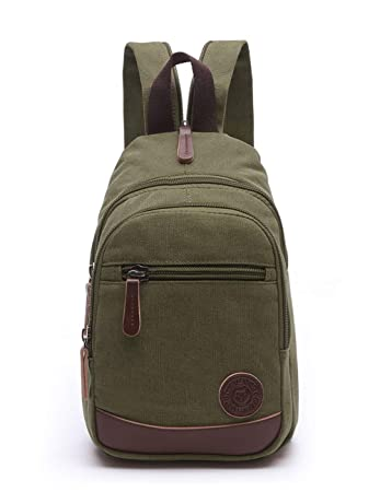 1590c27cf15 Amazon.com   Lightweight Mini Canvas Backpack for Women Girls Purse Small  Rucksack Sling Bag (Small, Army Green)   Kids  Backpacks