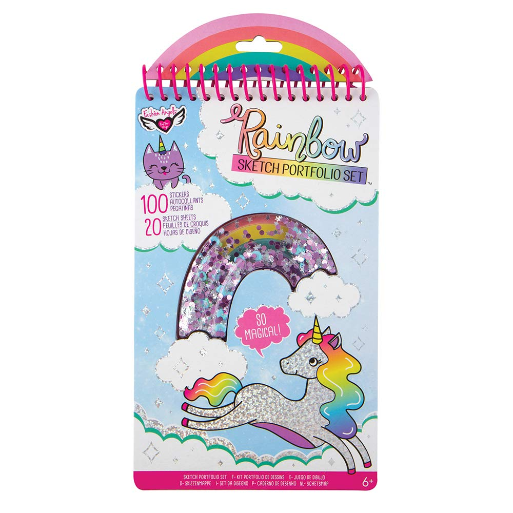 Buy Fashion Angels Rainbow Compact Sketch Portfolio 12385 20 Coloring Pages 100 Stickers Coloring Book For Kids Online At Low Prices In India Amazon In
