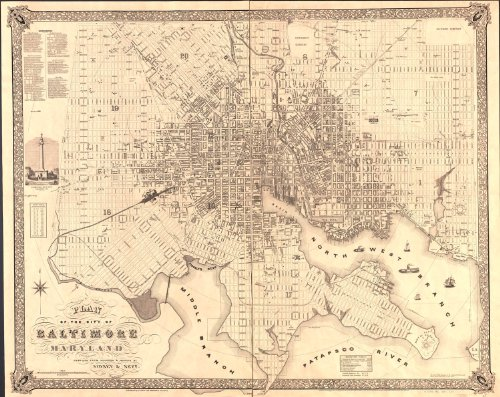 VintPrint Map Poster - Plan of The City of Baltimore Maryland - ()
