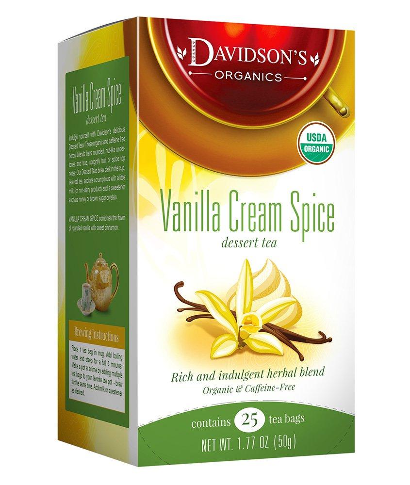 Davidson's Tea Vanilla Cream Spice, 25 Count Tea Bag