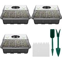 3 Set Seed Growing Propagator Starter Kit Tray Marking Labels Greenhouse Tools Indoor Planting Set Plant Labels Seedling…