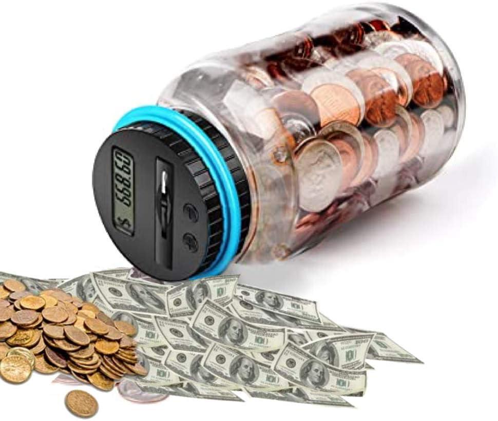 Piggy Bank Digital Coin Counting Jar, Saving Bank, Coin Collector Giant, Piggy Bank Money-Saving Box, Coin Counters & Coin Sorters, Coin Counting Bank, Kids Piggy Bank Coin Bank