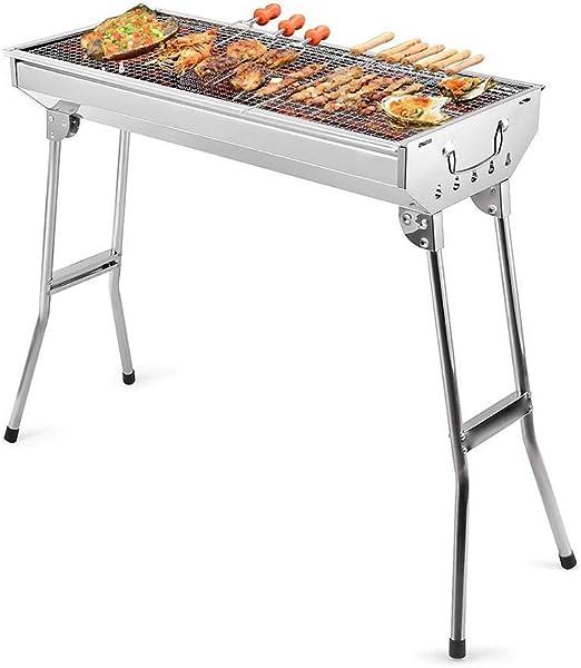 BBQ-- Barbacoa de Carbón Gran Tamaño para la Fiesta Familia Jardín Exterior de 5-10 Personas,Blanco,73 * 33 * 71cm: Amazon.es: Hogar