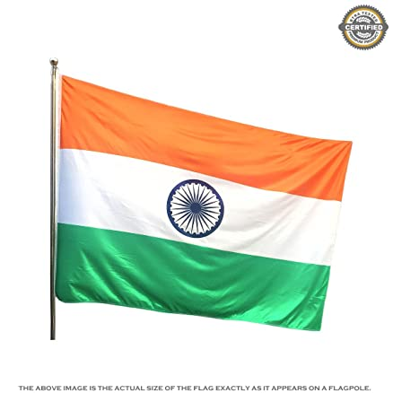 The Flag Shop Indian National Outdoor Flag of Size 4ft x 6ft in