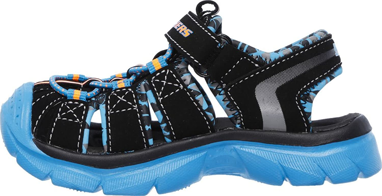 Boy's Skechers, Relix Throphix Sandals BLACK BLUE 12 M: Amazon.ca: Shoes &  Handbags