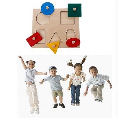 Seaskyer Montessori Shapes Sorting Puzzle Geometry Board Education Preschool Kids Toys: Industrial & Scientific