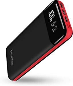 Power Bank 25000mAh Portable Charger, High Capacity Battery Pack Backup External USB Battery Power Pack Battery Charger 3 Output 2 Input with LCD Display Compatible Smartphone, Android Phone, Tablets