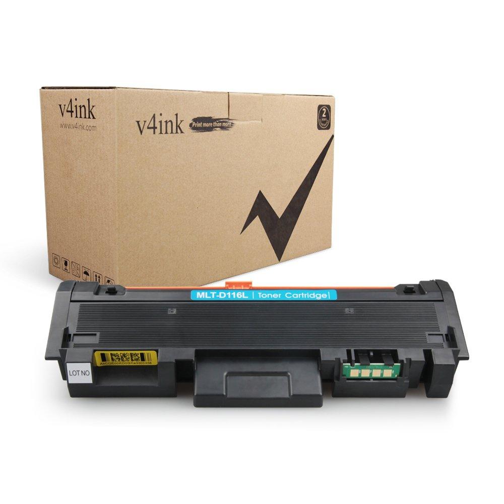 V4INK kit 1 toner Compatibili per Samsung MLT-D116L per uso con Samsung Xpress M2625 M2626 M2825 M2826 M2875 M2876 M2675 M2676 M2675FN M2825DW M2875FW M2825ND - (Nero, 3,000 Copie)