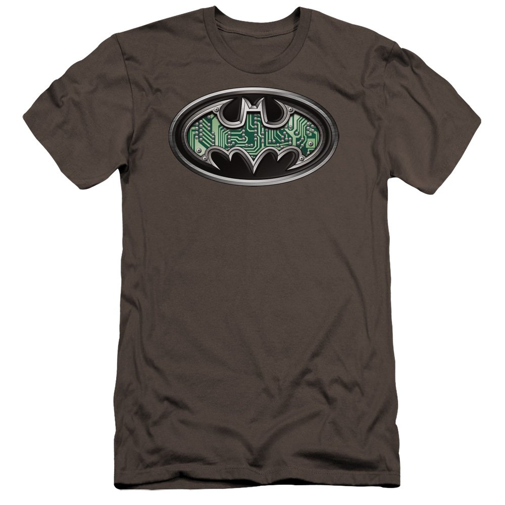 Batman Circuitry Shield Premium Adult Slim Fit T-Shirt