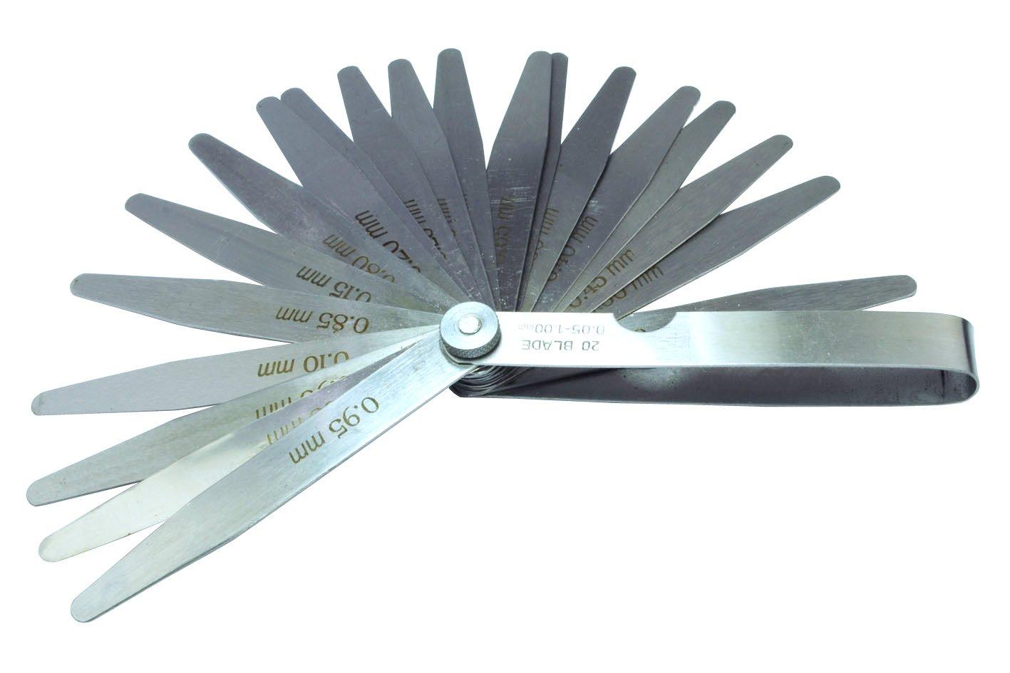 Proops 20 Blade Metric Feeler Gauge Set .05 - 1mm. (M0119) Free UK Postage
